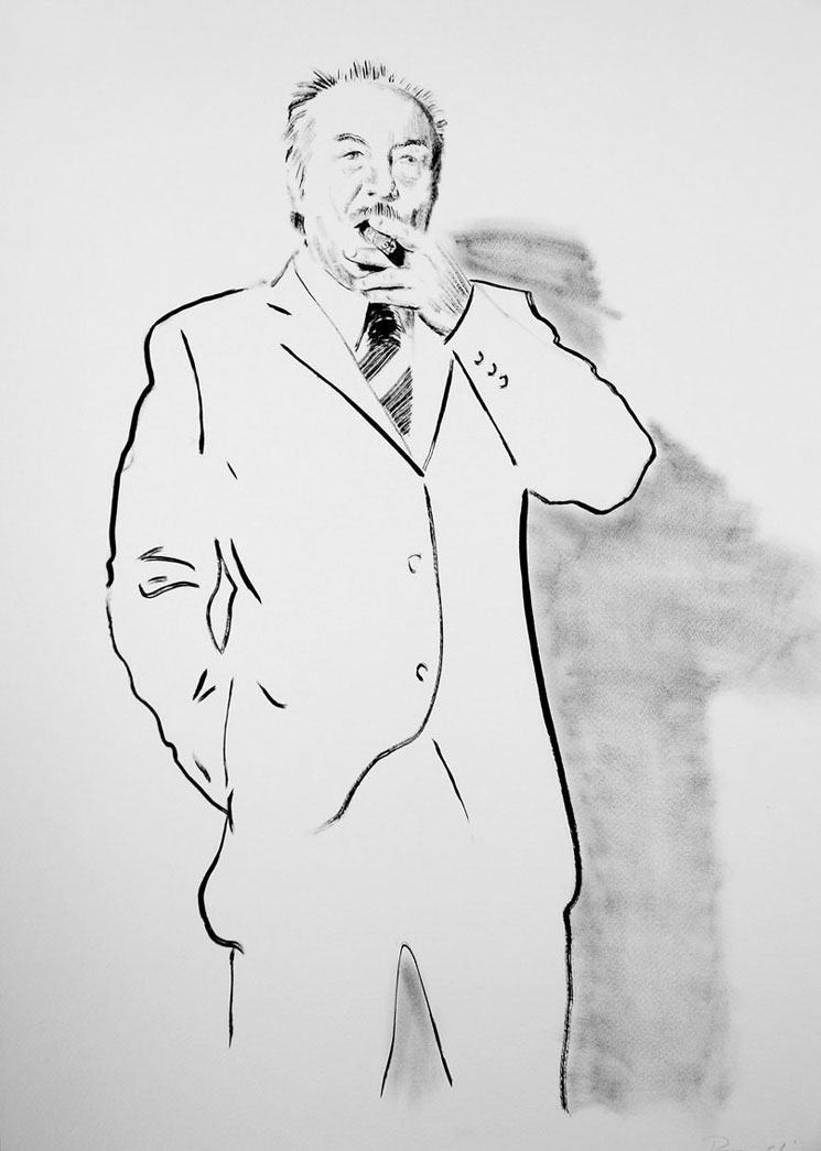 George Galloway with Cigar by Darren Coffield