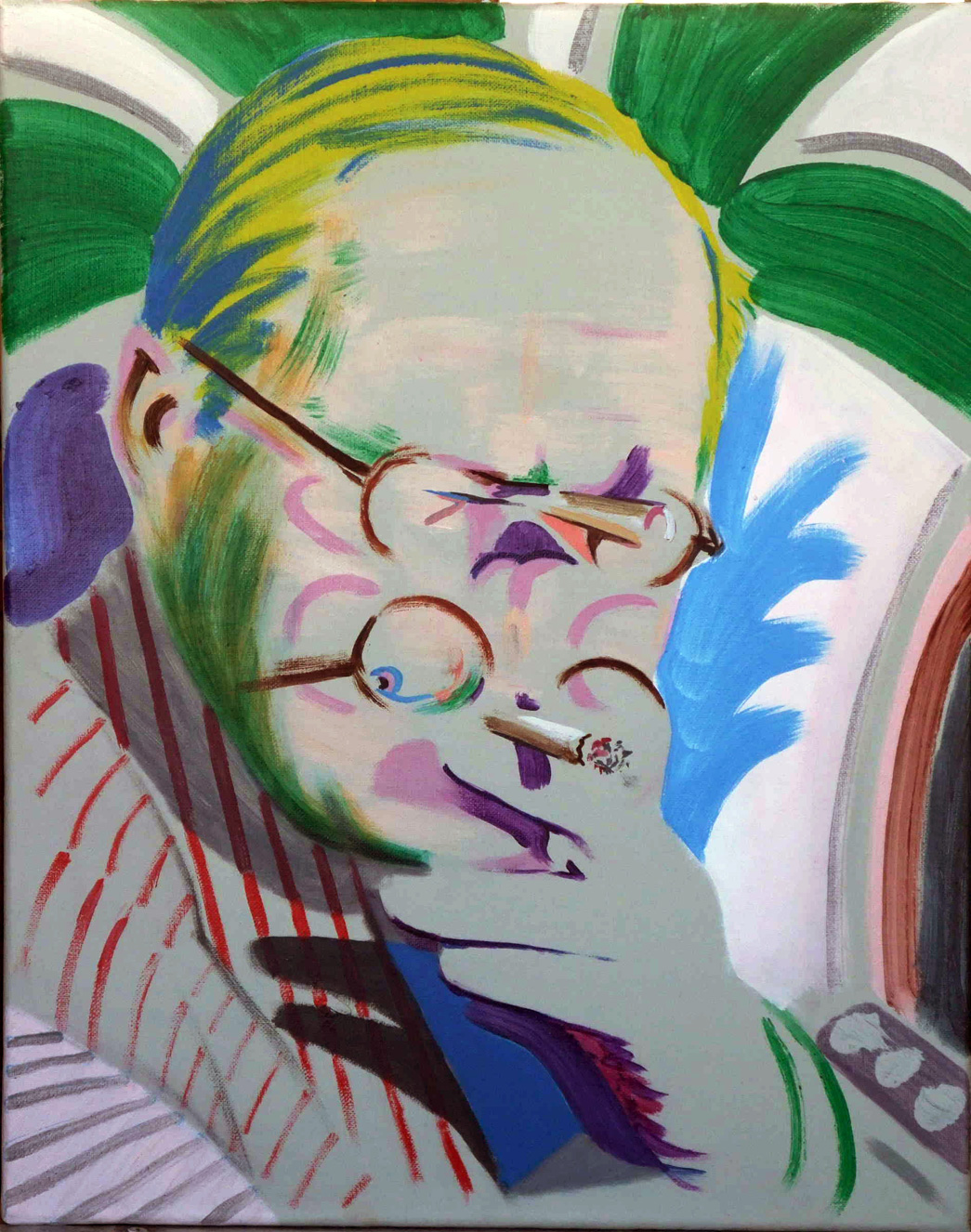 Hockney Takes a Breather by Darren Coffield